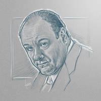 [sketch] James Gandolfini by BikerScout