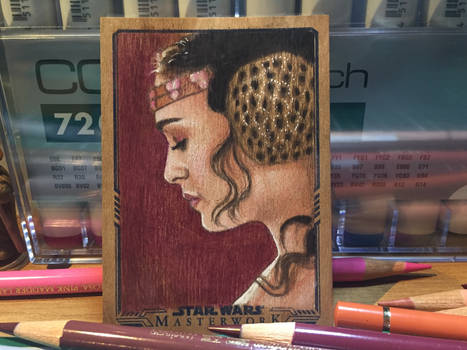 Star Wars Masterwork 2017: Padme wood card