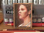 Star Wars Masterwork 2017: Leia wood card