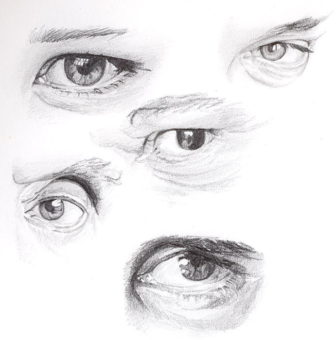 Eye Sketches I by BikerScout