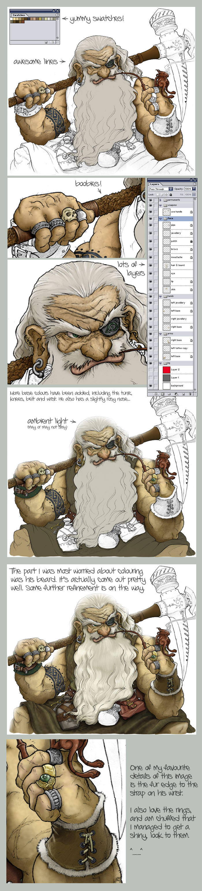 Colouring Inkthinkers Dwarf by BikerScout