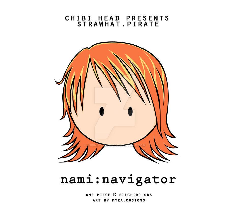 Chibi Head: Nami by infinity-myka