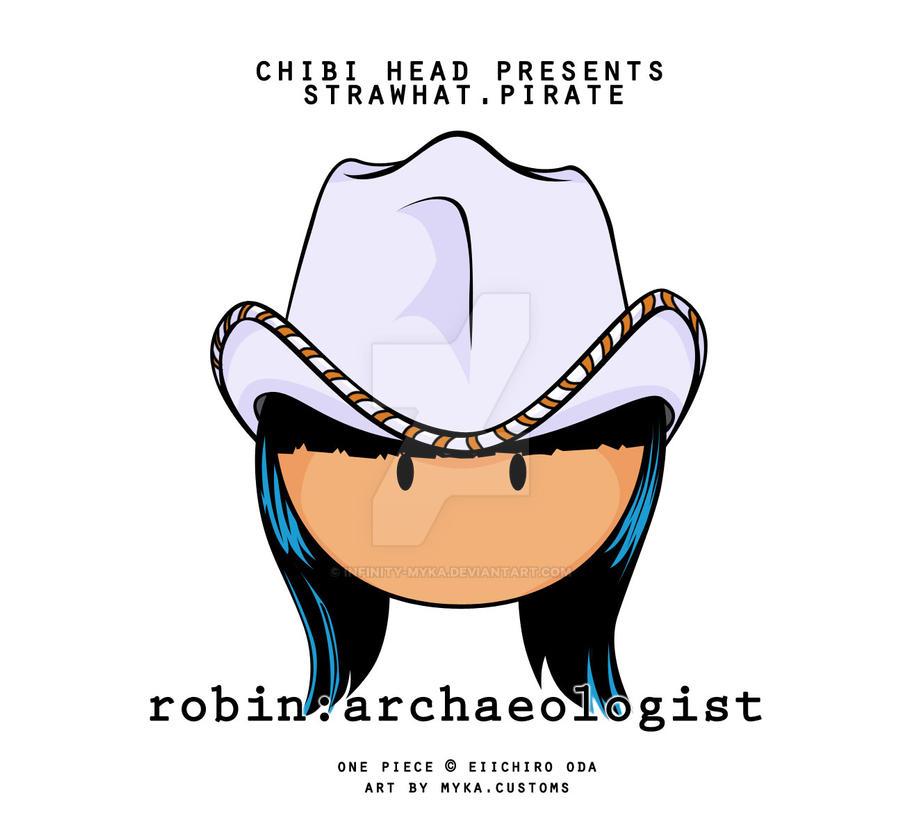 Chibi Head: Nico Robin by infinity-myka