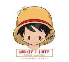 Chibihead Luffy