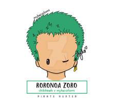 Chibihead Roronoa Zoro