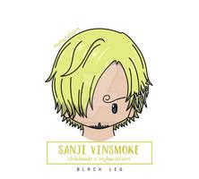 Chibihead Sanji Vinsmoke