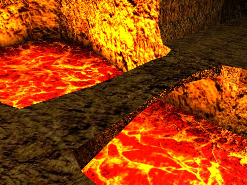 bridge over lava by rustysniper on deviantart. Black Bedroom Furniture Sets. Home Design Ideas