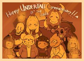 Undertale - Happy 1st Anniversary by Mikoto-Tsuki