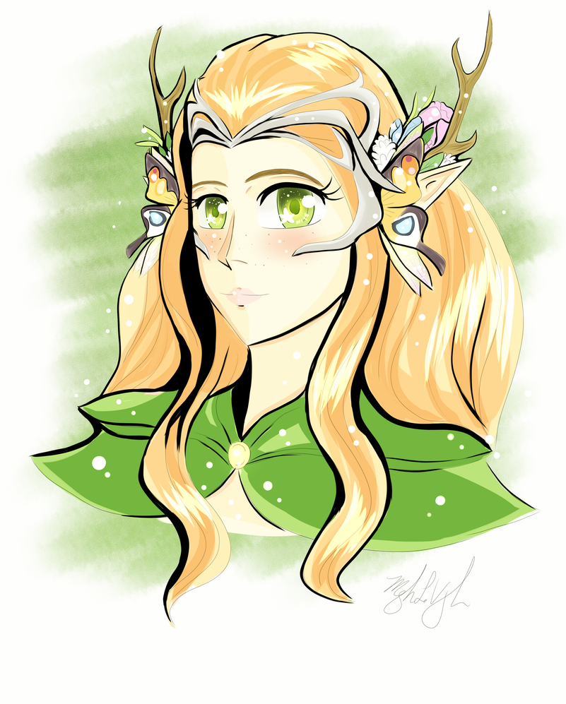 Beautiful Keyleth HalfElf Druid Portrait 2017 by MeghansDreamDesigns