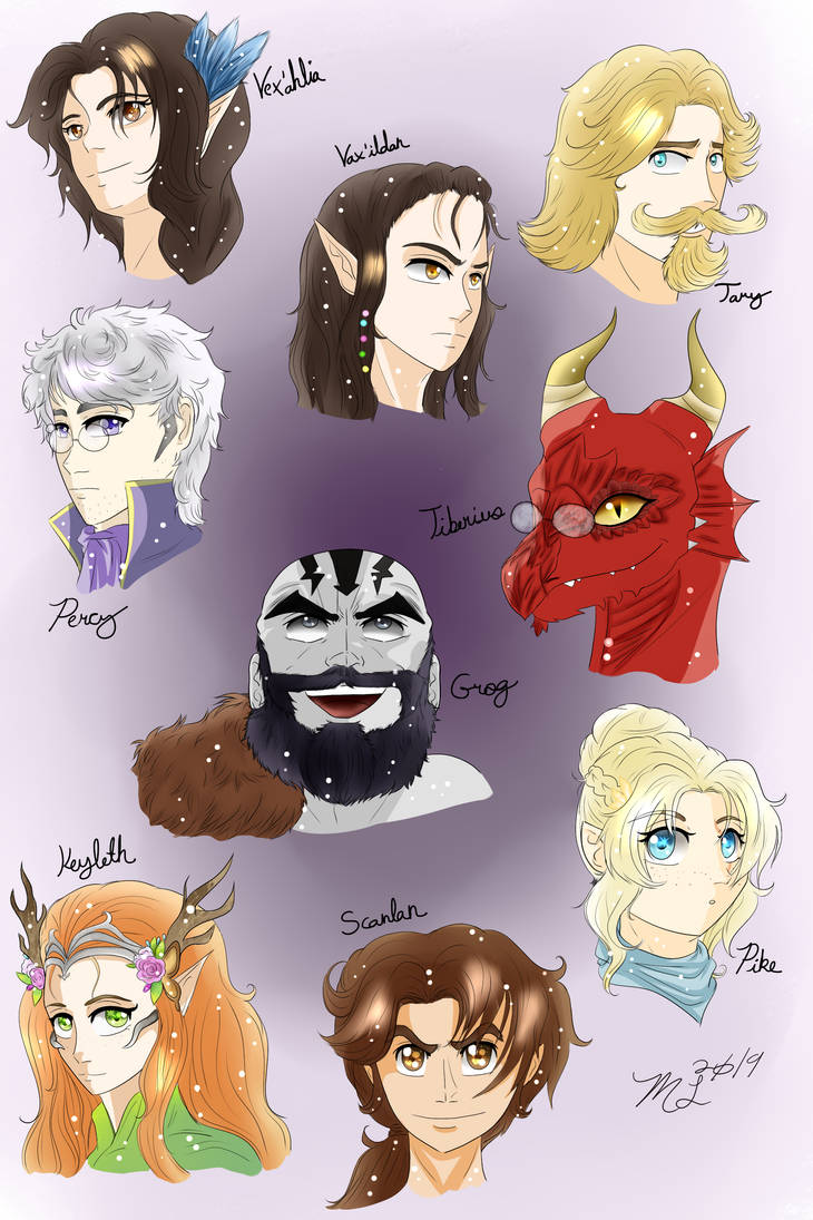 The Faces of Vox Machina 2019 (Updated) by MeghansDreamDesigns