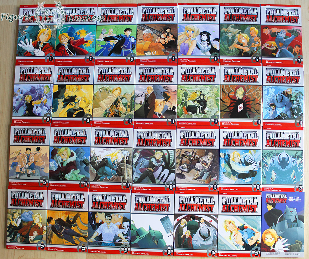 record review fullmetal alchemist manga box the figure duchess i guess the cover design is basically the same as the ese volumes the last one is the novel bottom right as far as i know it s the 5th