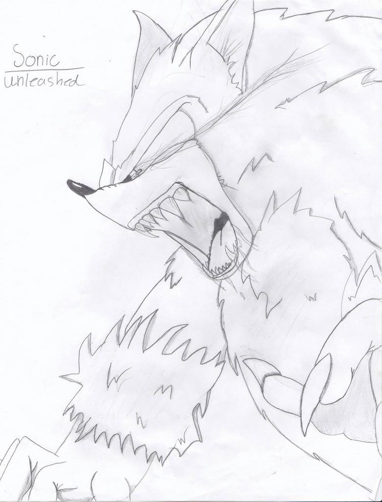 sonic the werehog by Foxy-Werehog