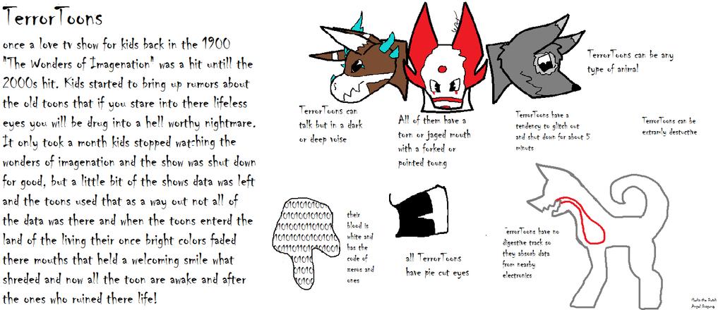 TerrorToons back story by Foxy-Werehog