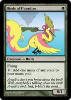 Birds Is The Paradise Card by DanShive