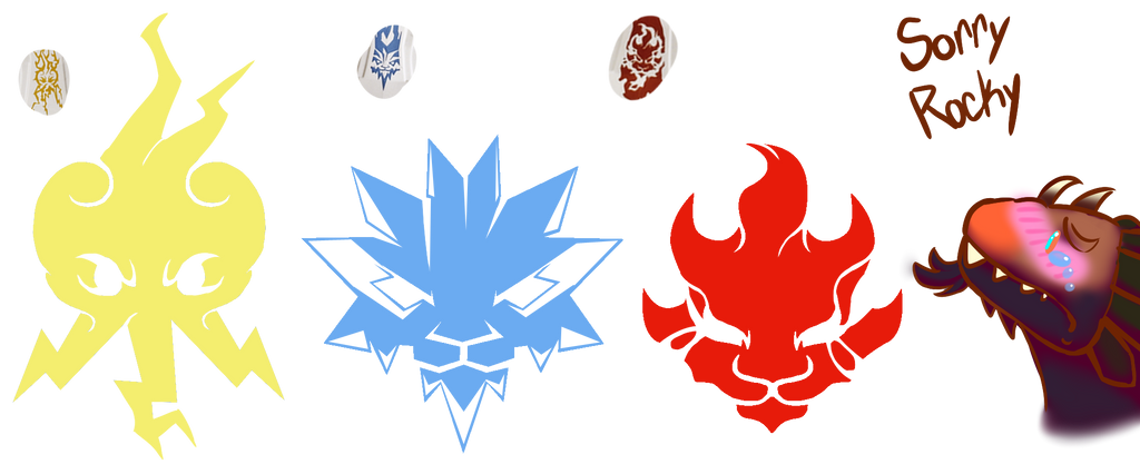 Ultra Dragon Head Symbols By Mutantninjadragon ...