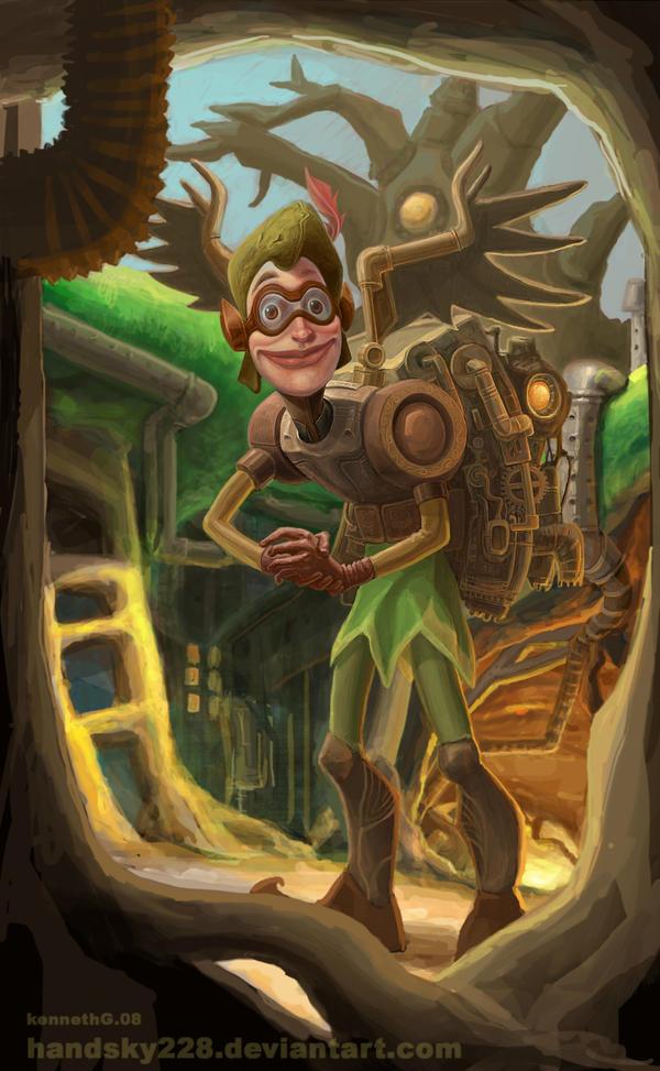 Steampunkfyfied Peter Pan by handsky228