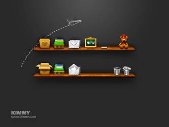 Blackboard icon by KimmyKong