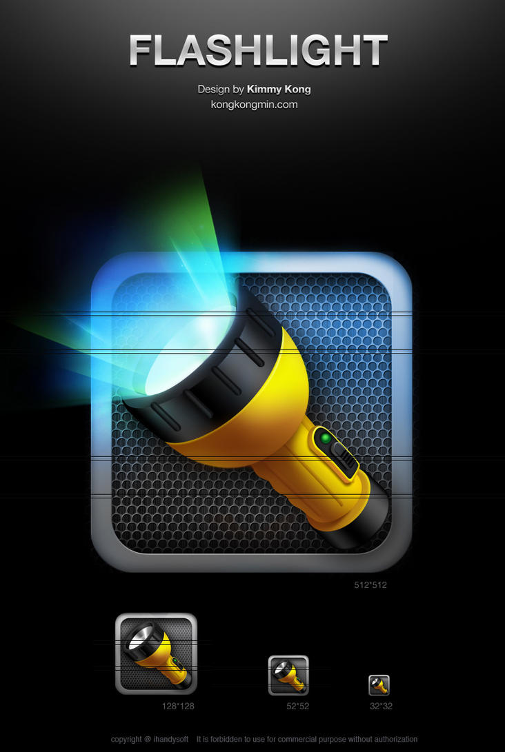 Flashlight icon No1 by KimmyKong