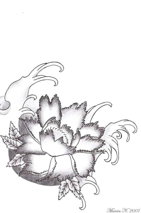 Japanese Flower Line Drawing : Japanese flower by marcin n on deviantart