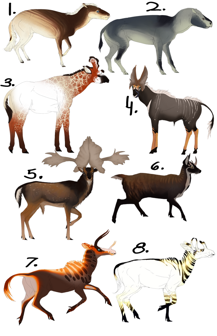 N Ungulate Extinct ungulat...