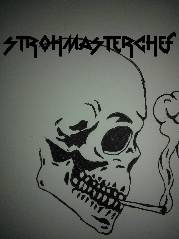 Weed smoking skull by StrohMasterchef on DeviantArt
