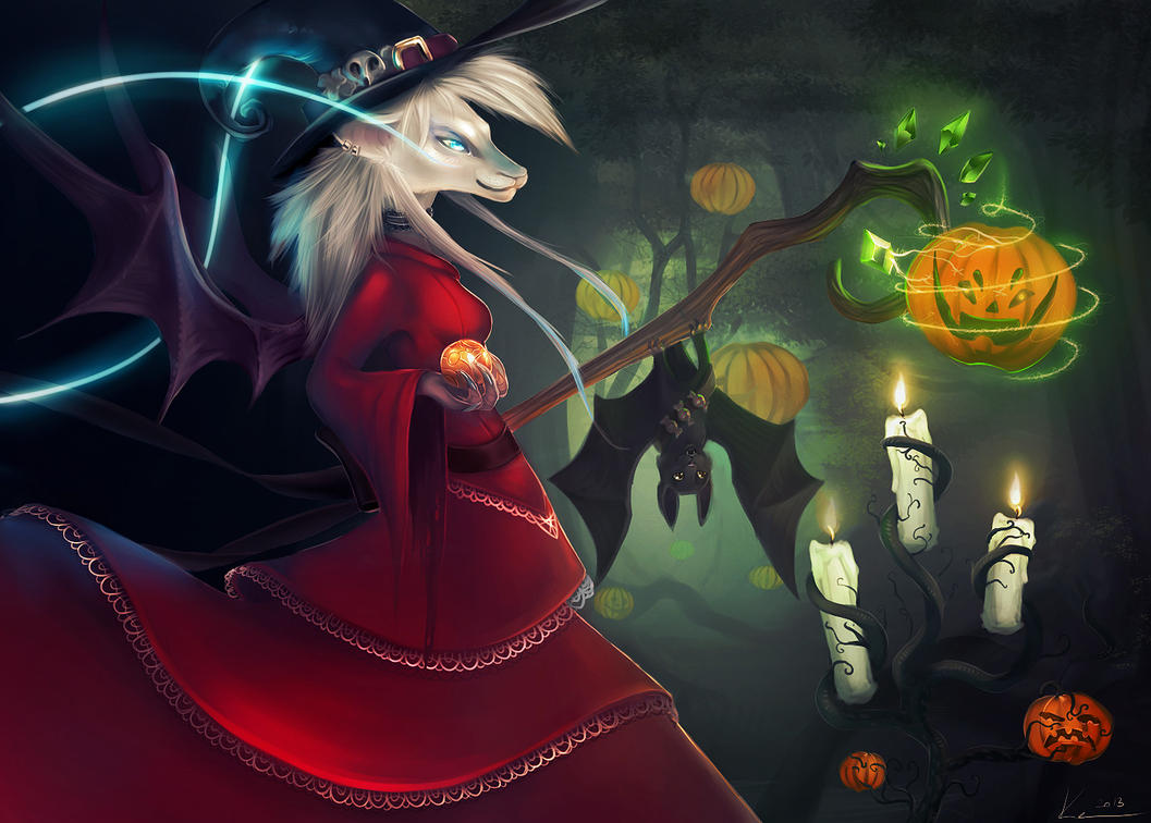 Halloween witch by akitary