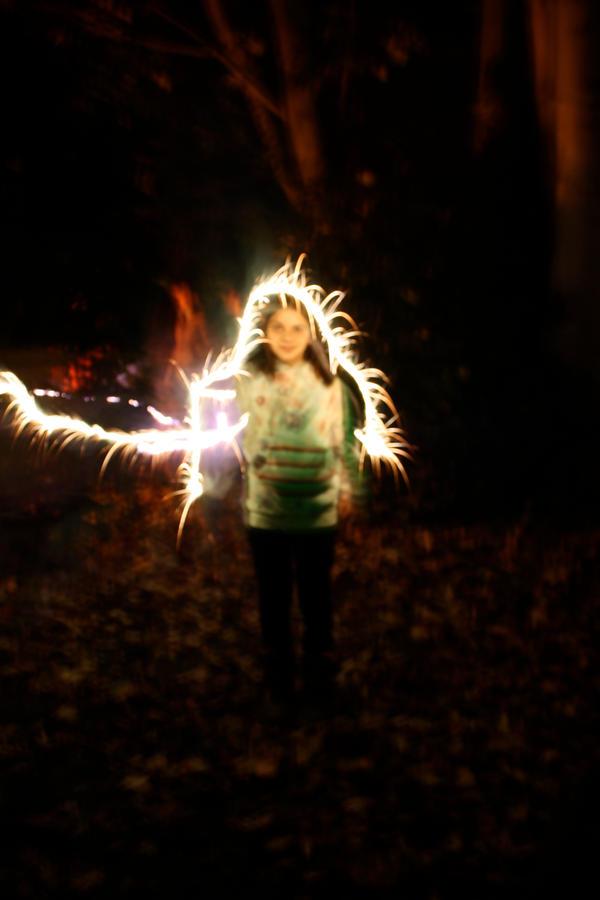 Sparkler angel by Fogmeister