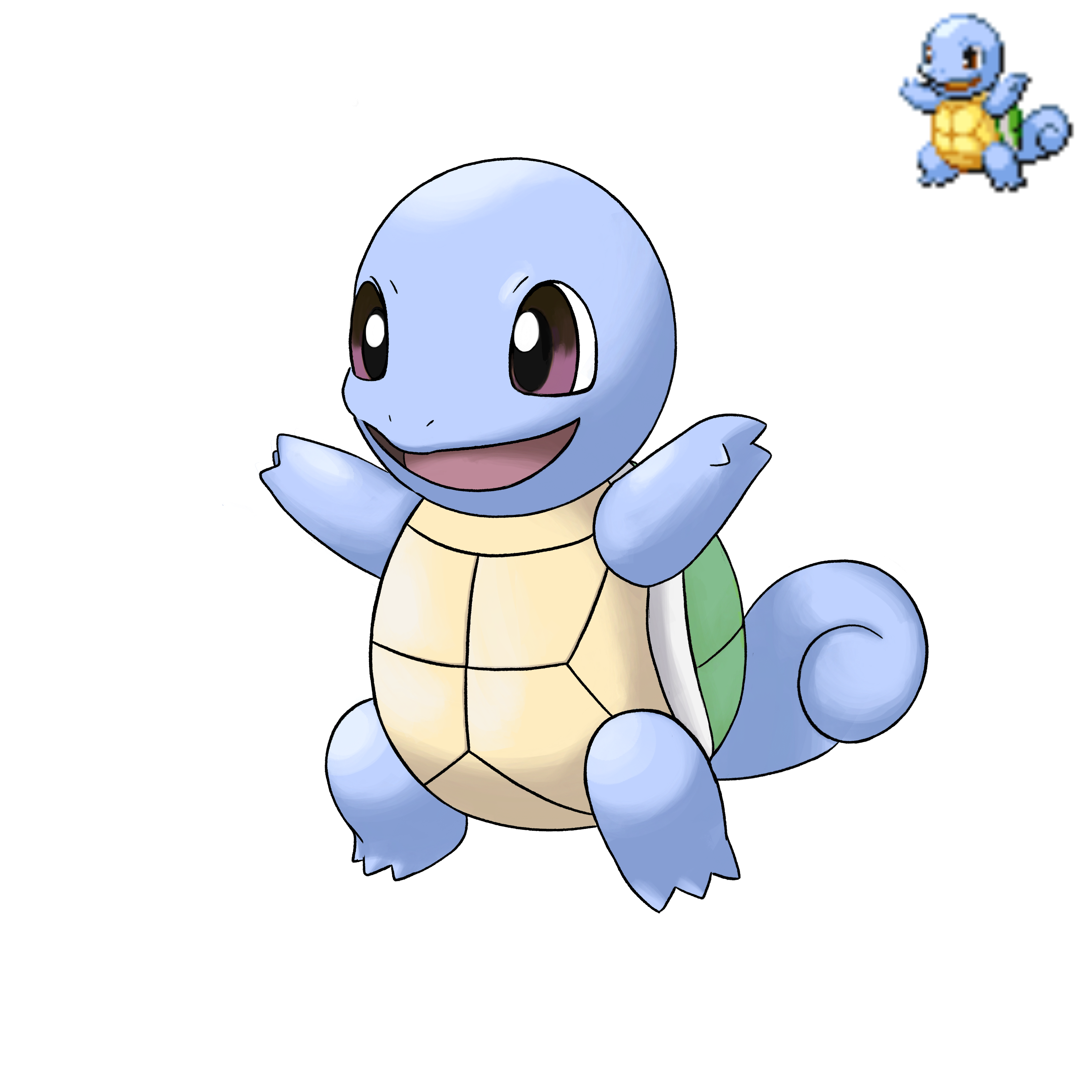 Shiny Squirtle Dp Sprite Showcase By Lazoofficial On Deviantart It evolves into wartortle at level 16, who evolves further into blastoise at level 36. shiny squirtle dp sprite showcase by