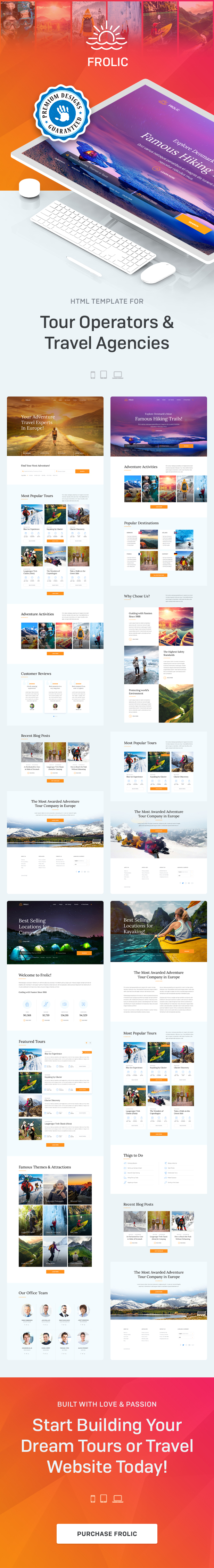 FROLIC - HTML Template for Tour Operators & Travel Agencies - 1