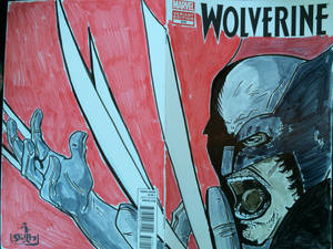 Wolverine sketch cover for my buddy's Graduation