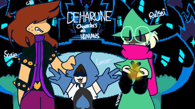 Deltarune characters as humans    by CheetahF on DeviantArt