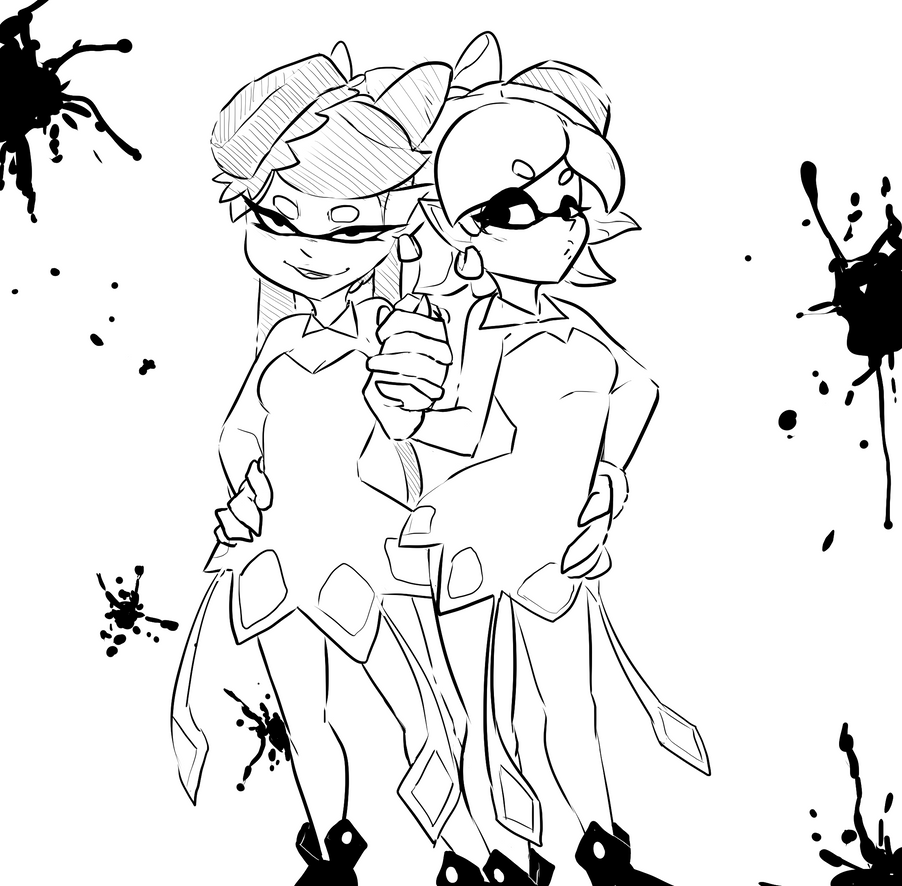Splatoon coloring sheet printable pages sketch coloring page for Splatoon coloring pages