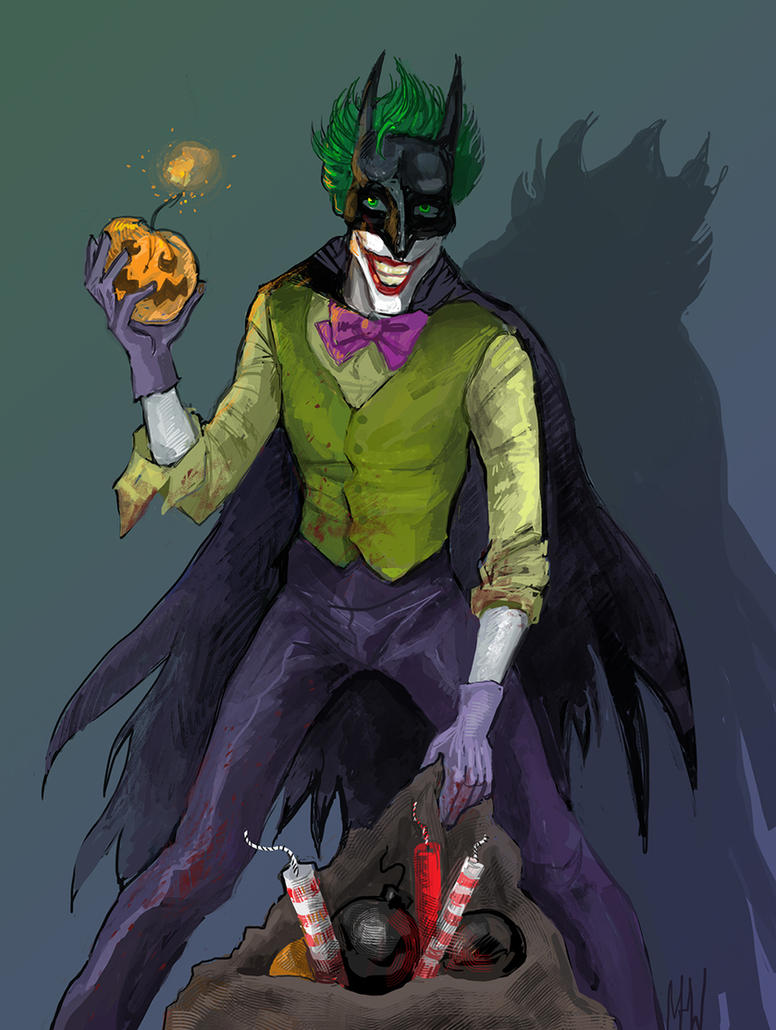 Halloween Joker by MadHatters-Wife