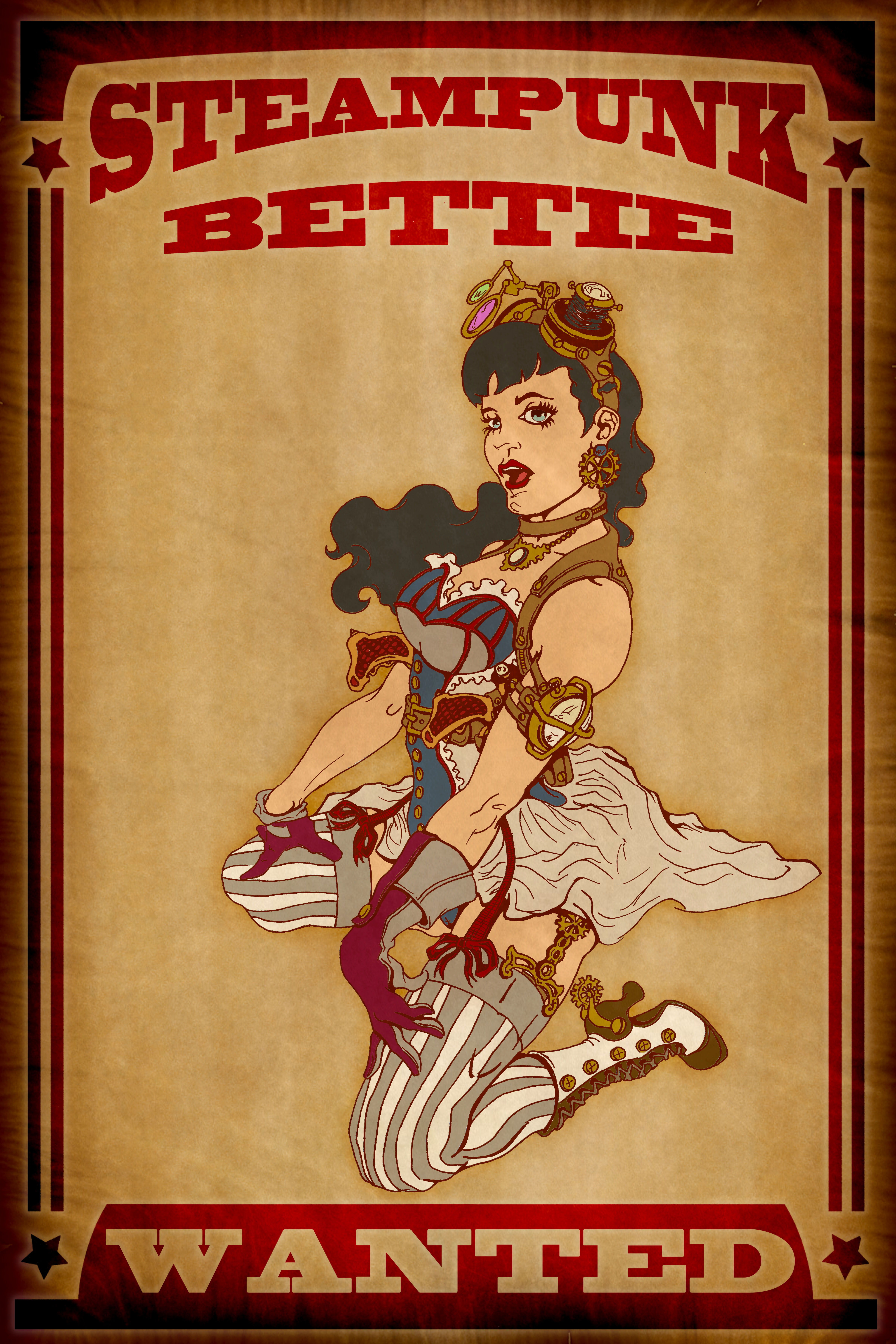 Steampunk Bettie by jEANd-mICHEL