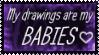 Precious Precious Drawings Stamp by Fantasy-Fashionista
