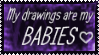 Precious, Precious Drawings Stamp by Fantasy-Fashionista