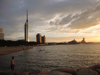 Fukuoka Tower Sunset