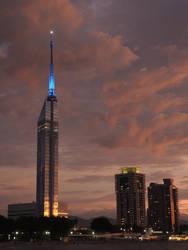 Fukuoka Tower Sunset Lights