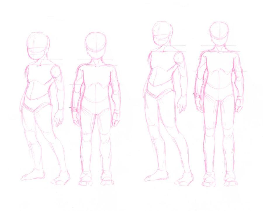 Sized Human bases by ryuuen on DeviantArt: ryuuen.deviantart.com/art/2-Sized-Human-bases-78378065