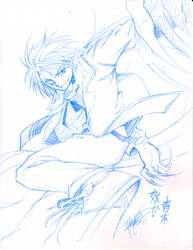 SCMP : Aoki in Half Demon form by ryuuen