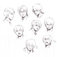 ATS: Ryuu headshot pen doodles by ryuuen