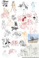 Extremely Huge Doodle Dump by ryuuen