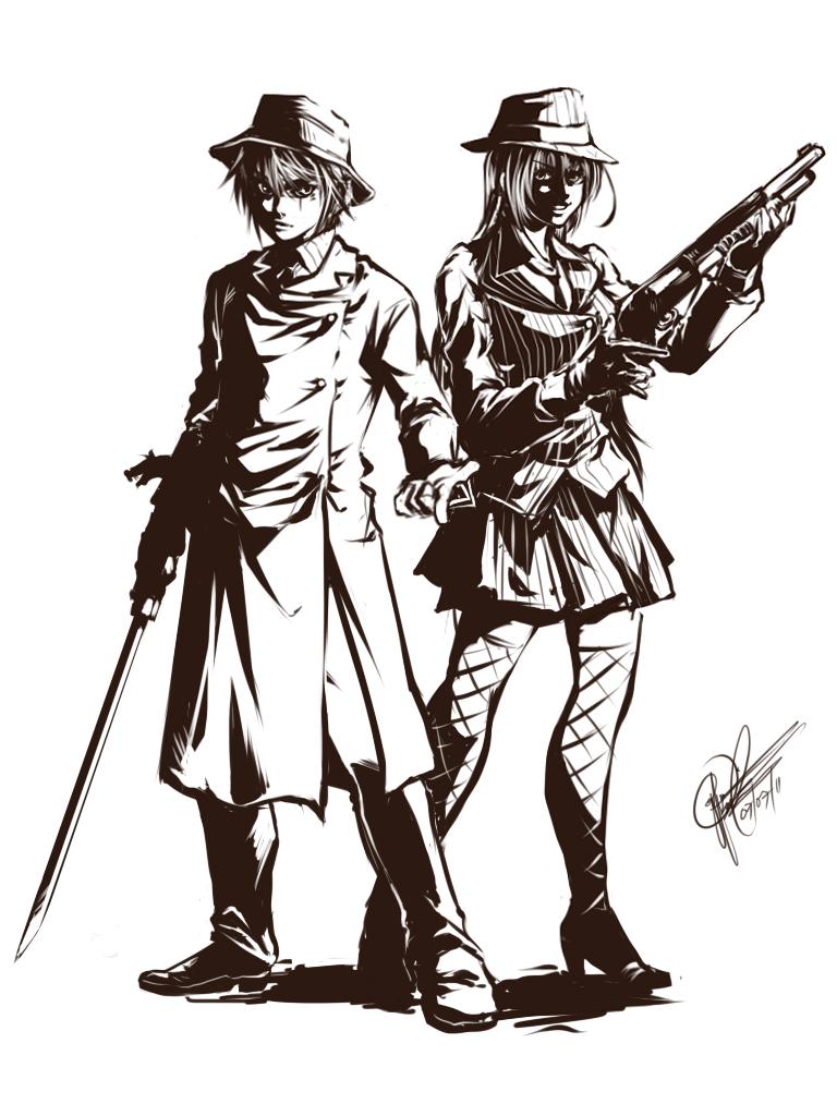 TRSBm: Sword and Gun v2 by ryuuen