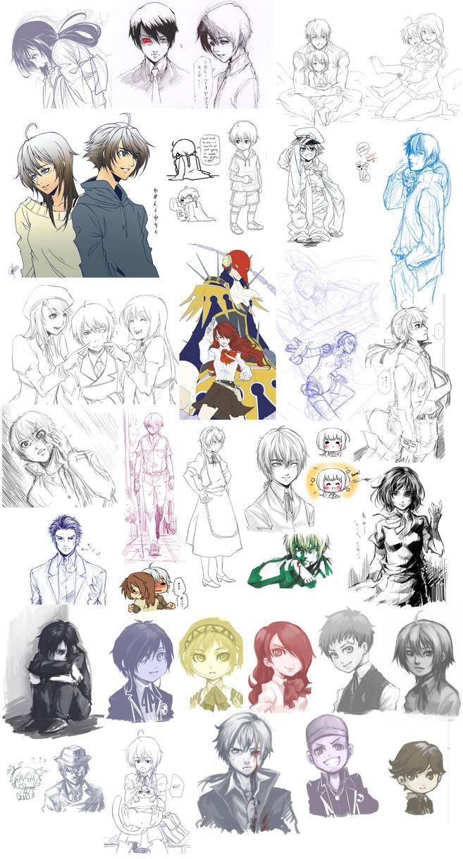 Le Doodle Dump 3-12 by ryuuen