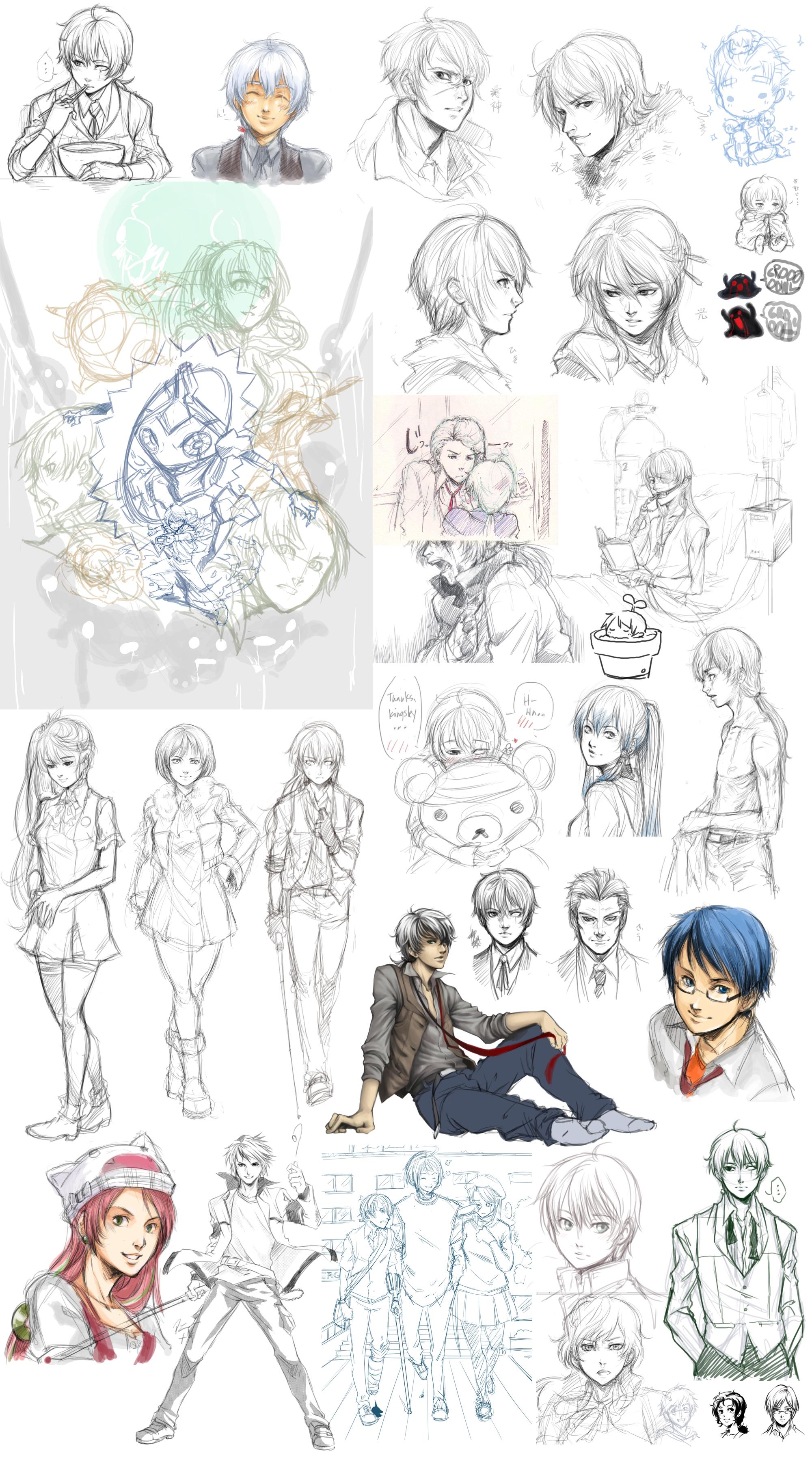 Le Doodle Dump 6-27 by ryuuen