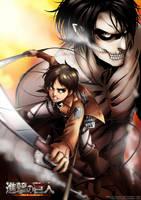 Shingeki no Kyojin : Eren Jaeger by ryuuen