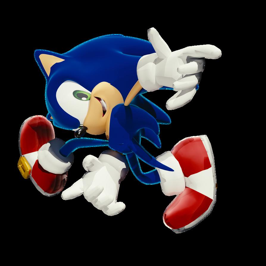 Sonic The Hedgehog (SA1 Cover Art) Render by chuck123emma on DeviantArt