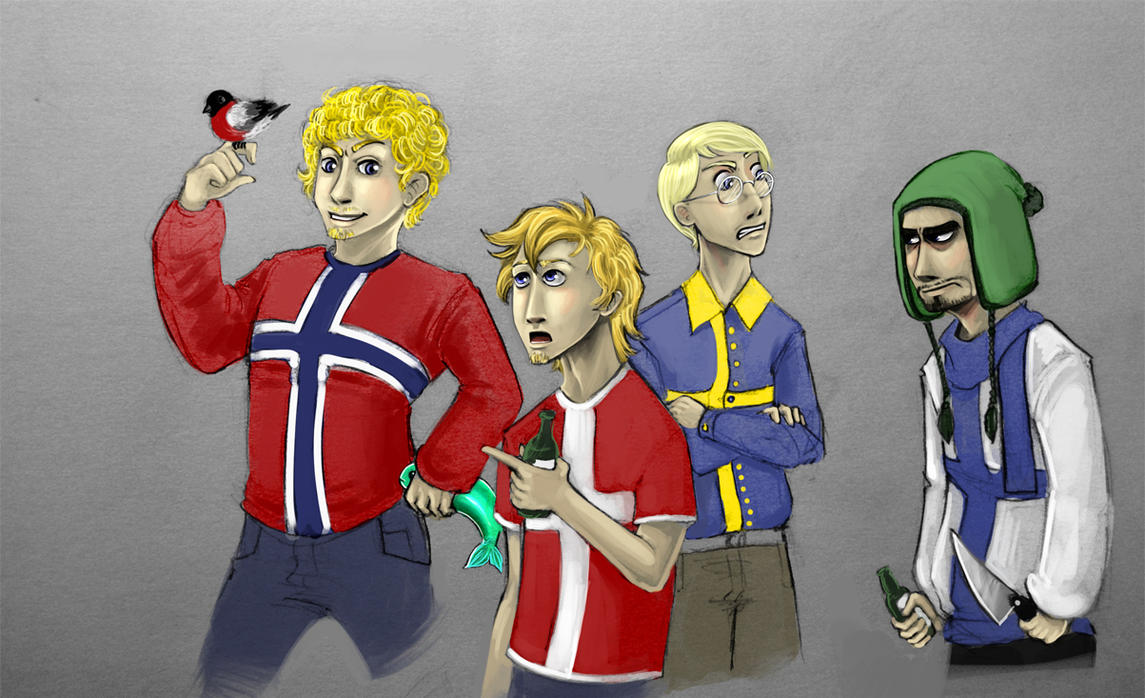 Team Scandinavia by TheBloodWingedAngel