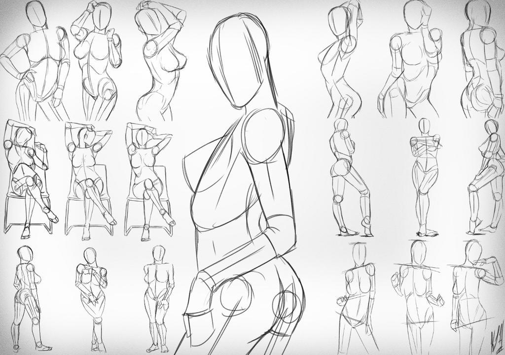 Female Sketching 1 by NobleCrimson on DeviantArt