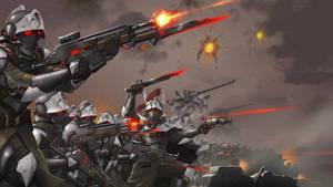 Commission: Grim Dark concept art assault troopers
